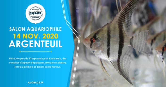 Bourse Aquariophile, le 14 Novembre 2020 à Argenteuil (95).