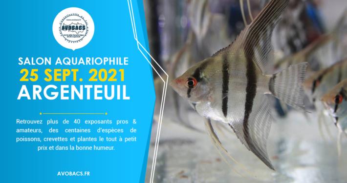 Bourse Aquariophile, le 25 Septembre 2021 à Argenteuil (95).